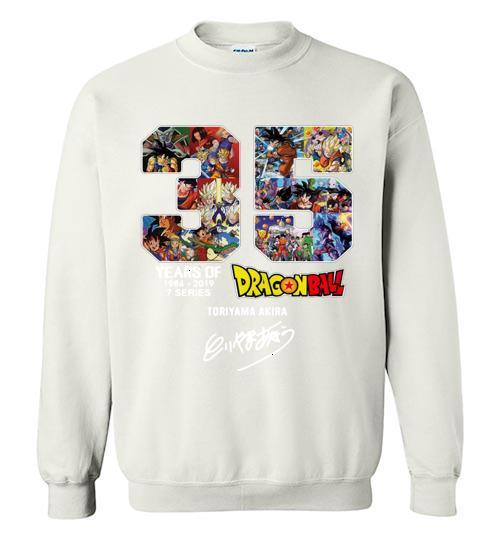 35 years of Dragon Ball 1984 2019 Toriyama Akira signature Crewneck Sweatshirt