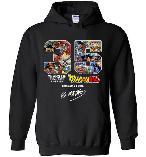 35 years of Dragon Ball 1984 2019 Toriyama Akira signature Hoodie