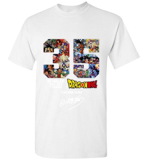 35 years of Dragon Ball 1984 2019 Toriyama Akira signature Unisex Classic Shirt