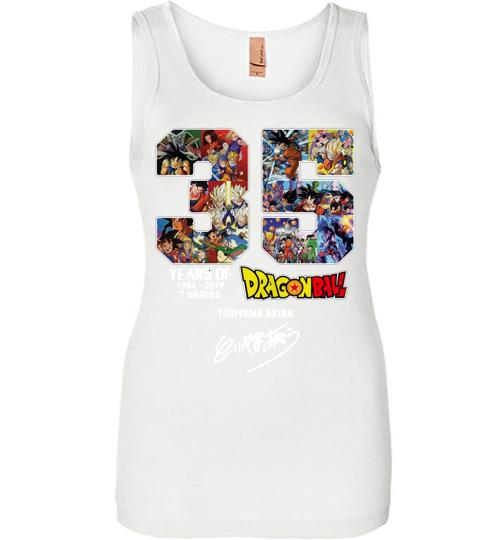 35 years of Dragon Ball 1984 2019 Toriyama Akira signature Women Jersey Tank