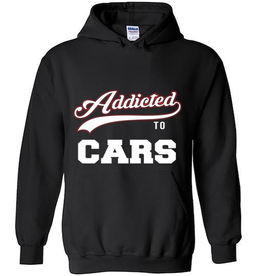 Addicted To Cars Baseball Style Hoodie