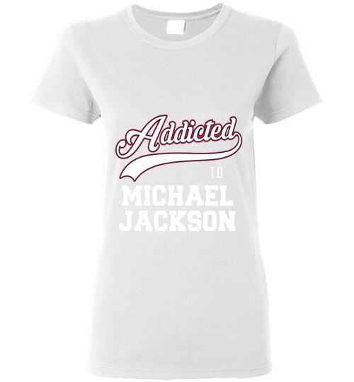 Addicted To Michael Jackson Ladies Short Sleeve