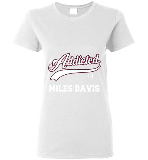 Addicted To Miles Davis Baseball Ladies Short Sleeve
