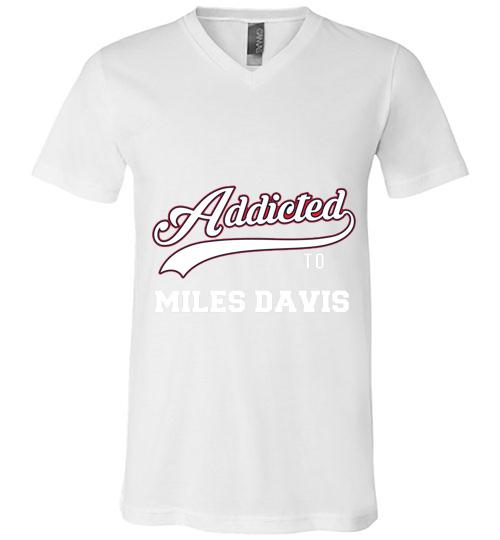 Addicted To Miles Davis Baseball Men V Neck Shirt