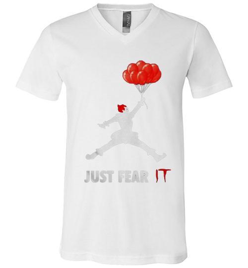 Air Jordan Pennywise just fear IT Men V Neck Shirt