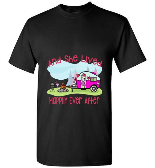 And She Lived Happily Ever After Love Camping Camp Unisex Classic Shirt