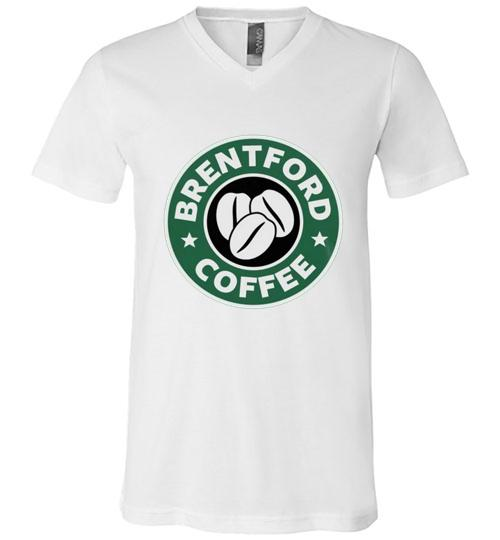 Brentford Coffee Starbucks Men V Neck Shirt