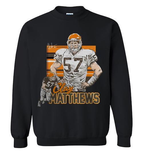 Clay Matthews Cleveland Browns vintage signature Crewneck Sweatshirt
