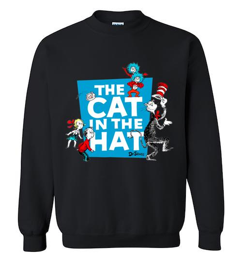 Dr Seuss The Cat in the Hat Characters Crewneck Sweatshirt