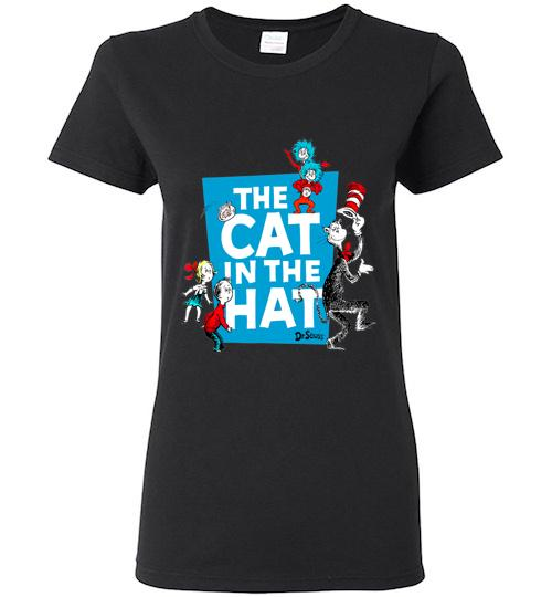 Dr Seuss The Cat in the Hat Characters Ladies Short Sleeve