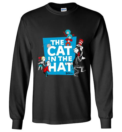Dr Seuss The Cat in the Hat Characters Unisex Long Sleeve Shirt