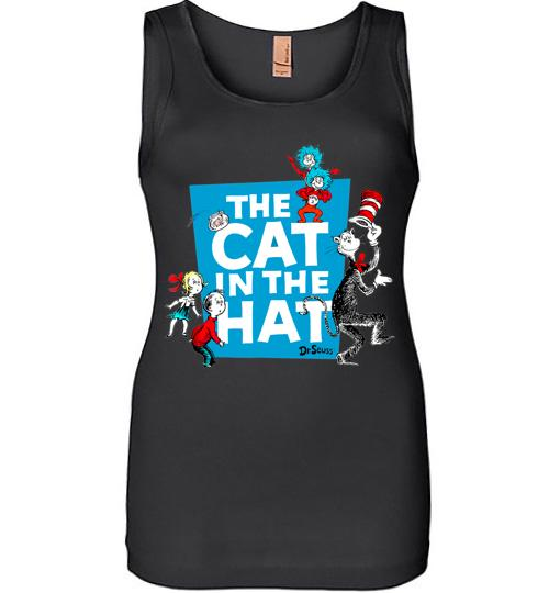 Dr Seuss The Cat in the Hat Characters Women Jersey Tank