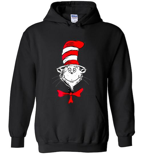 Dr Seuss The Cat in the Hat Face Hoodie