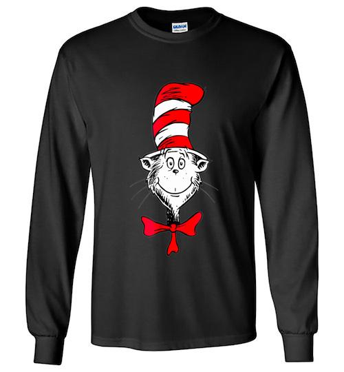 Dr Seuss The Cat in the Hat Face Unisex Long Sleeve Shirt