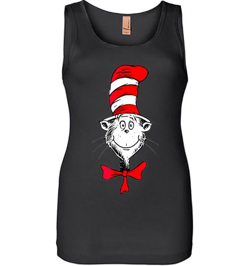 Dr Seuss The Cat in the Hat Face Women Jersey Tank