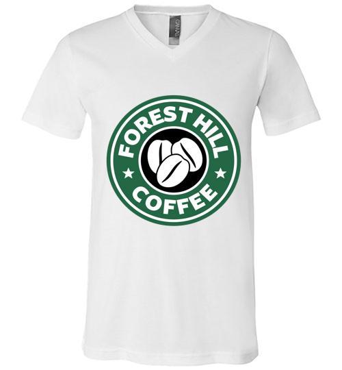 Forest Hill Coffee Starbucks Men V Neck Shirt