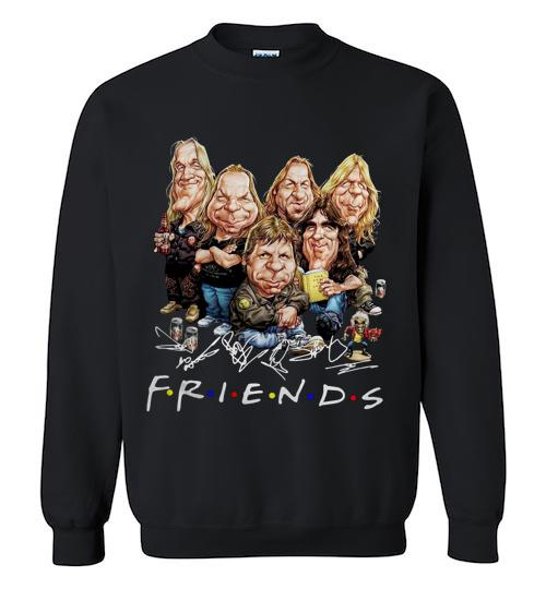 Friends caricature iron maiden cartoon Crewneck Sweatshirt