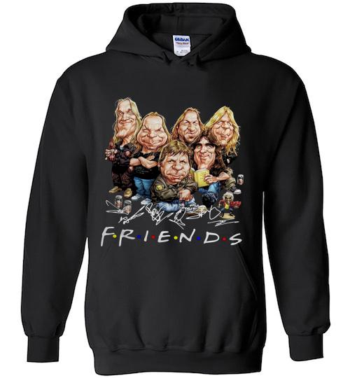 Friends caricature iron maiden cartoon Hoodie