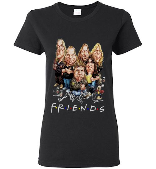 Friends caricature iron maiden cartoon Ladies Short Sleeve