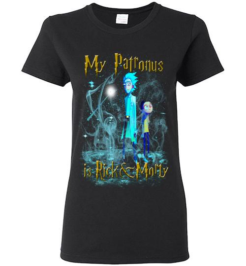 Harry Potter Rick And Morty Mug My Patronus Is Rick And Morty Ladies Short Sleeve