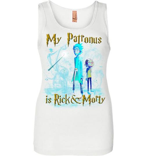 Harry Potter Rick And Morty Mug My Patronus Is Rick And Morty Women Jersey Tank