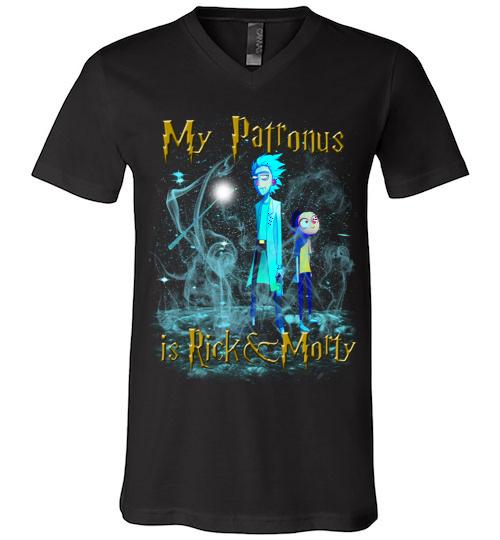 Harry Potter Rick And Morty Mug My Patronus Is Rick And Morty24 Men V Neck Shirt