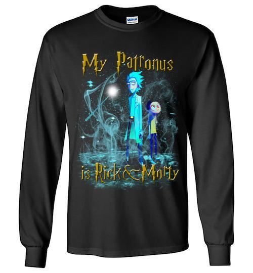Harry Potter Rick And Morty Mug My Patronus Is Rick And Morty24 Unisex Long Sleeve Shirt