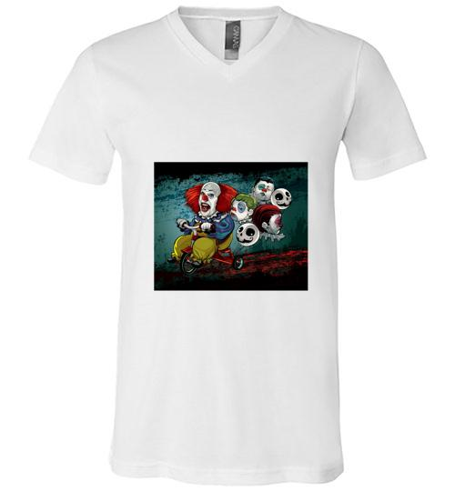 Horror Movies Illustration Men V Neck Shirt