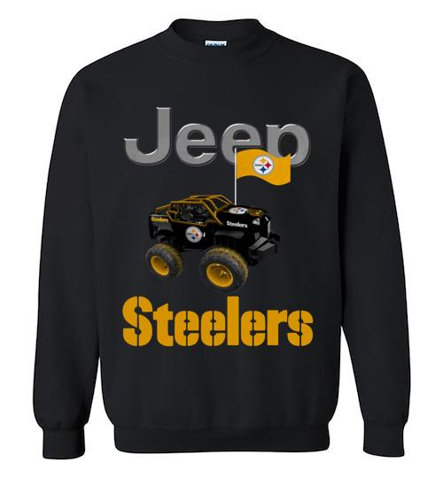 Jeep Flag Pittsburgh Steelers shirt Crewneck Sweatshirt