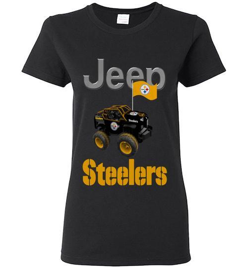 Jeep Flag Pittsburgh Steelers shirt Ladies Short Sleeve