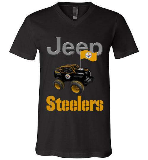 Jeep Flag Pittsburgh Steelers shirt Men V Neck Shirt