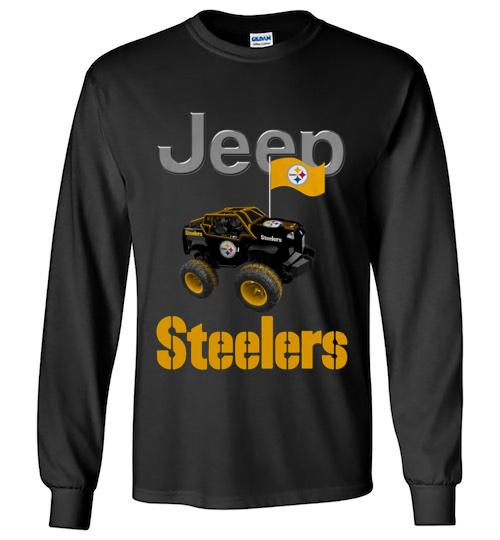 Jeep Flag Pittsburgh Steelers shirt Unisex Long Sleeve Shirt