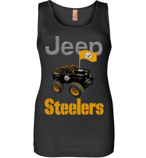 Jeep Flag Pittsburgh Steelers shirt Women Jersey Tank