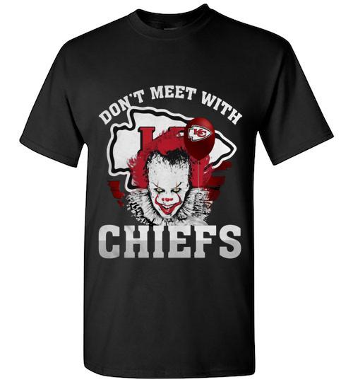 Kansas City Chiefs Pennywise don t meet with Chiefs Halloween Unisex Classic Shirt