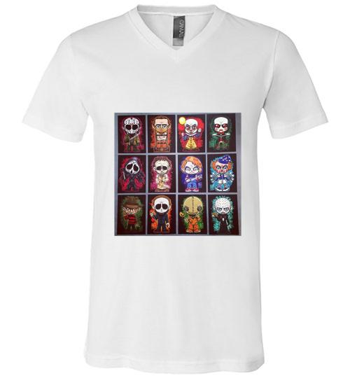 Monster Mash Bags Men V Neck Shirt
