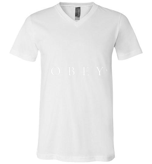 Obey Inspired Men V Neck Shirt