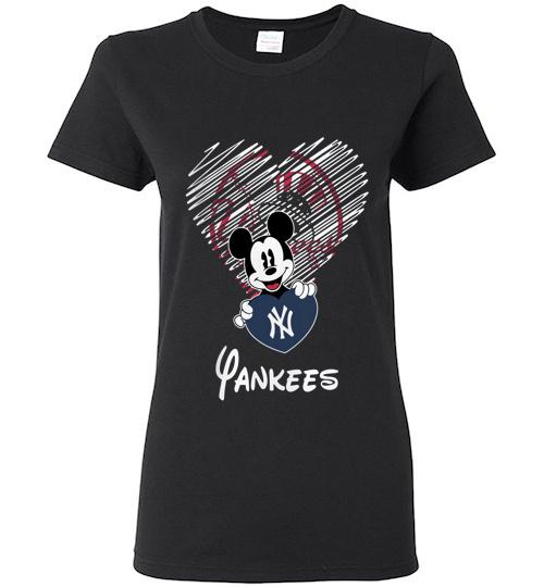 Official New York Yankees Mickey Ladies Short Sleeve