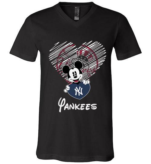 Official New York Yankees Mickey Men V Neck Shirt