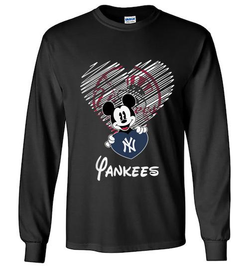 Official New York Yankees Mickey Unisex Long Sleeve Shirt