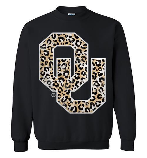 Official Oklahoma Sooners Leopard Crewneck Sweatshirt