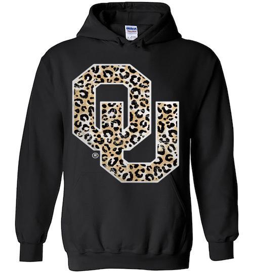 Official Oklahoma Sooners Leopard Hoodie