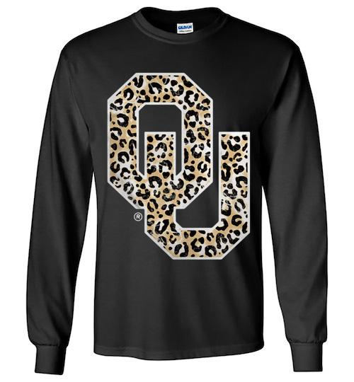 Official Oklahoma Sooners Leopard Unisex Long Sleeve Shirt