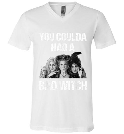 You Coulda had a Bad Witch Halloween Funny Men V Neck Shirt